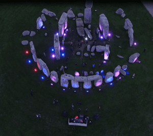 And now for Clannad … a drone shot of Oakenfold's gig.