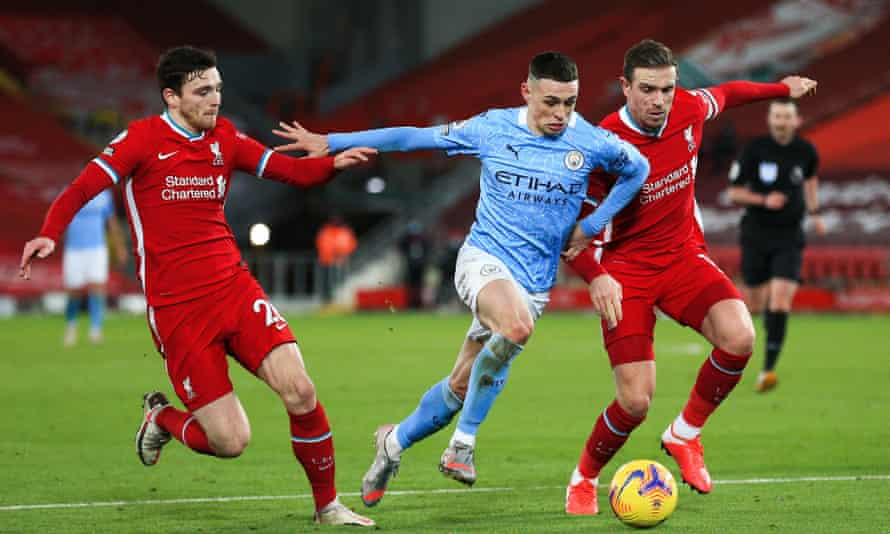 Phil Foden produced a mesmerising performance in Manchester City's win at Anfield