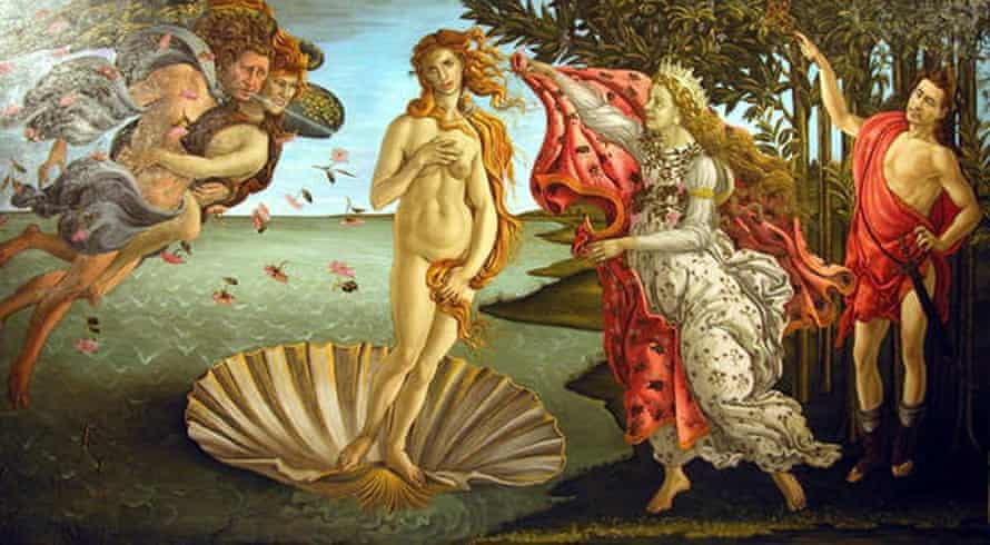 A Botticelli masterpiece – but no AI is making art, too.