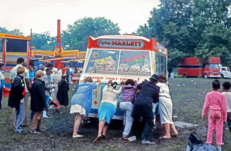 'Everyone had a voice' ... locals rescuing an ice cream van