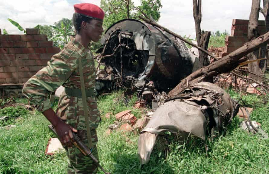 plane crash which killed Rwanda's President Juvenal Habyarimana in this May 23, 1994