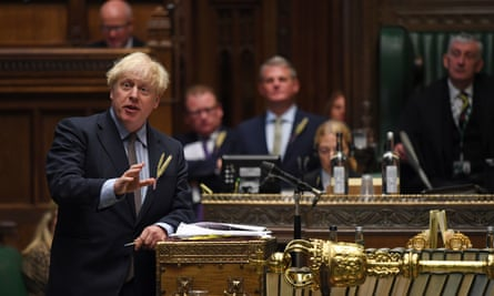 Boris Johnson speaking at the House of Commons.