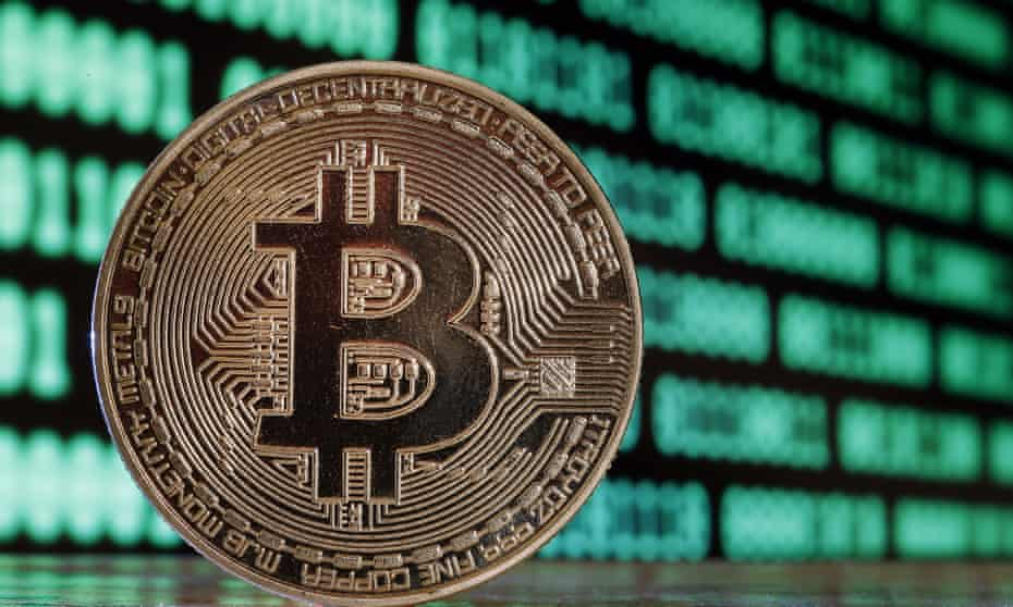 Bitcoin, a digital cryptocurrency.