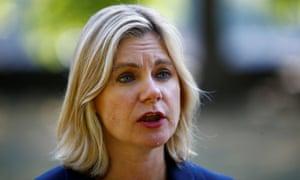 The former education secretary Justine Greening
