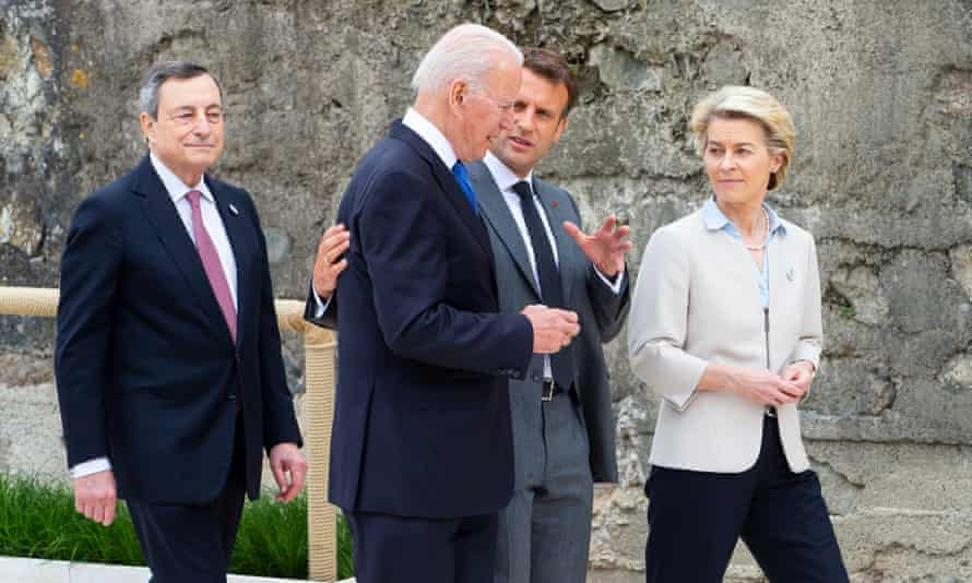 Leaders meeting at the G7 summit in Carbis Bay, Cornwall, included the US president, Joe Biden, France's Emmanuel Macron and Ursula von der Leyen, president of the European commission.