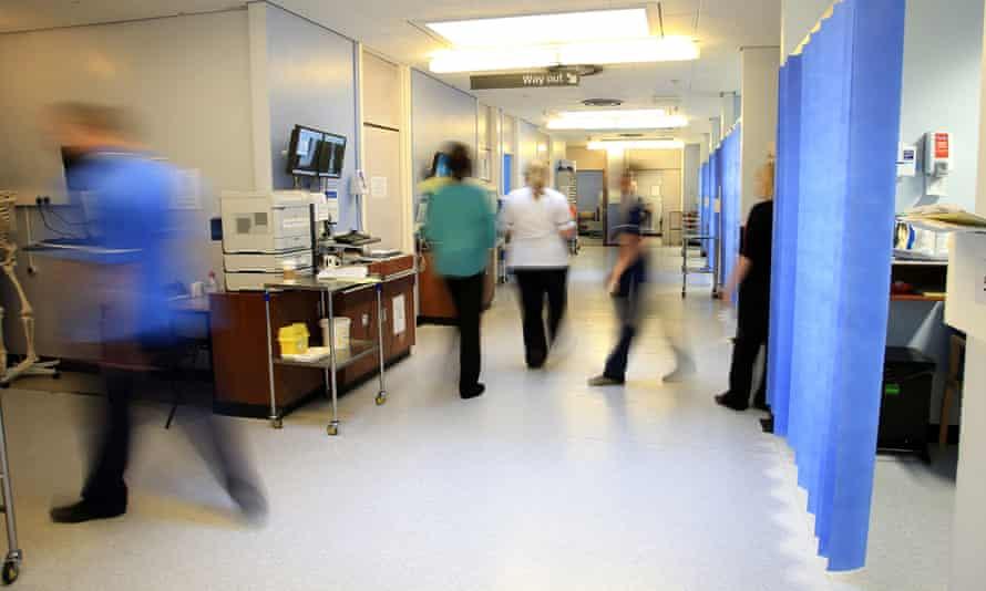 A hospital ward at the Royal Liverpool University hospital, Liverpool.