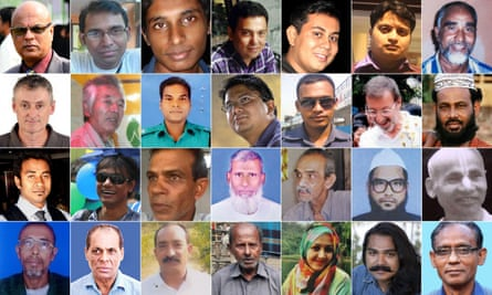 Victims of attacks by extremists.