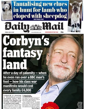 Daily Mail front page, 12 May 2017.