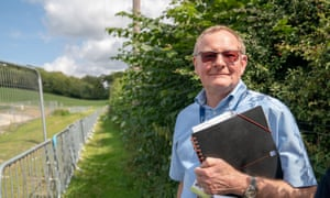 Peter Martin by the HS2 site in Great Missenden