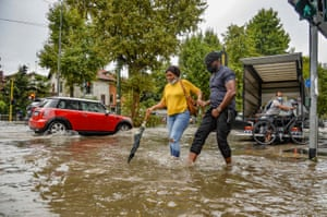 Milan: Heavy rains battered the city causing the Seveso and the Lambro rivers to overflow