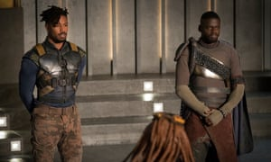 Daniel Kaluuya with Michael B Jordan in Black Panther