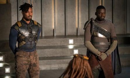 Daniel Kaluuya with Michael B Jordan in Black Panther