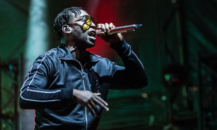 Tinie Tempah at the Kendal Calling music festival