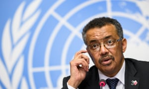 Dr Tedros Adhanom Ghebreyesus speaks at a press conference in 2017.