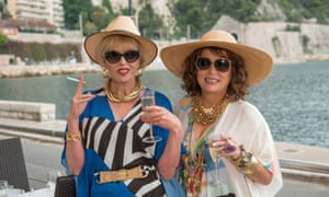 Joanna Lumley and Jennifer Saunders as Patsy and Eddy in Absolutely Fabulous: The Movie.