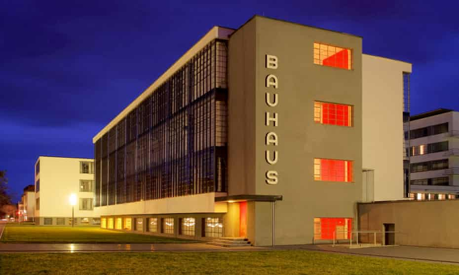The Bauhaus Meisterhauser in Dessau-Rosslau, Germany, designed by Walter Gropius, an example of the school's ideal for urban living.