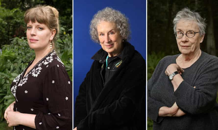 (from left) Sarah Perry, Margaret Atwood and Annie Proulx are among the most famous authors longlisted for the Baileys women's prize.