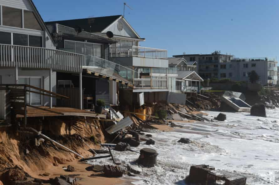 Homes at Collaroy on 7 June after sustaining major structual damage following king tides and huge swell.