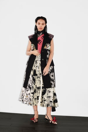 Sleeveless and heavily embellished, the key to this new lean silhouette is layering