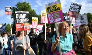Anti Trump protesters outside Buckingham Palace in central London, Britain, 03 June 2019.
