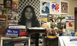 The Promise Arizona office in downtown Phoenix is filled with posters and memorabilia from protests and rallies.