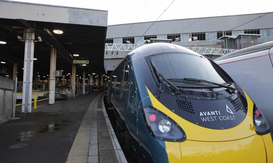 An Avanti West Coast service at London Euston station