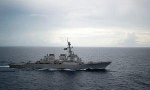 The guided-missile destroyer USS Decatur.