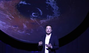 elon musk delivers a speech about colonising mars