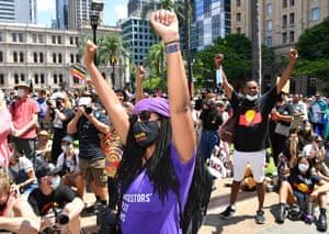 Protestors in Brisbane.