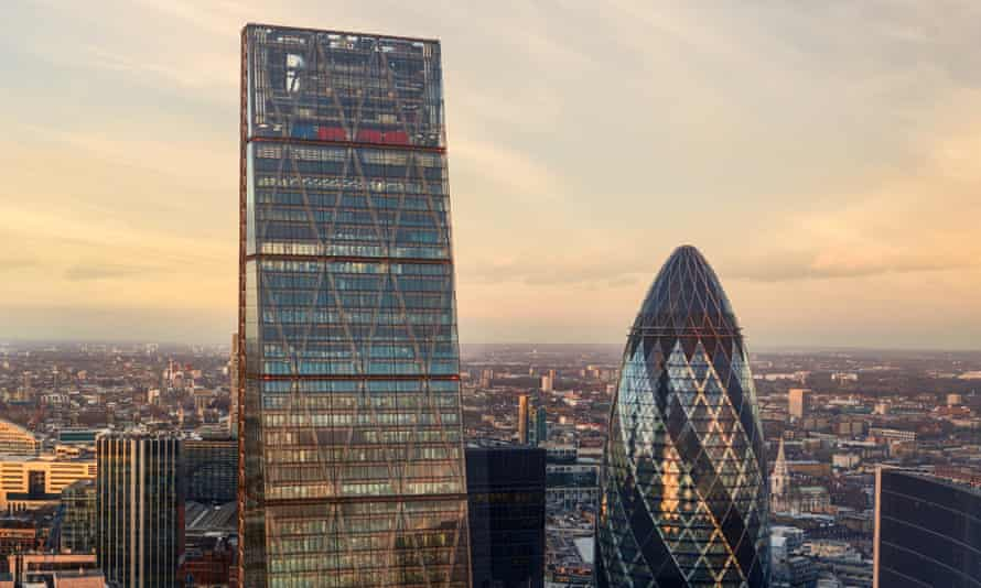 London's Cheesegrater and Gherkin towers