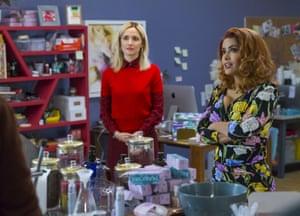 Rose Byrne and Salma Hayek in Like a Boss.