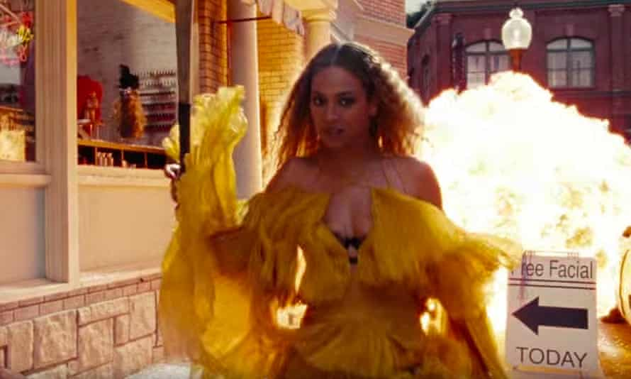 'There's an incredible amount of mystical and spiritual imagery throughout, Beyoncé swimming through water or walking through fire, seeking to purify her troubled soul.'