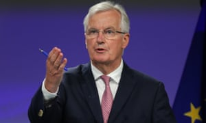 Michel Barnier at his press conference today.