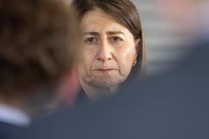 Premier Gladys Berejiklian at Westmead hospital on Monday.