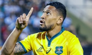 Israel Folau was sacked by Rugby Australia last year over homophobic social media posts.