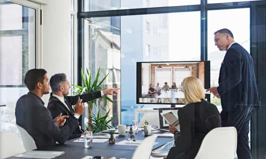a boardroom meeting