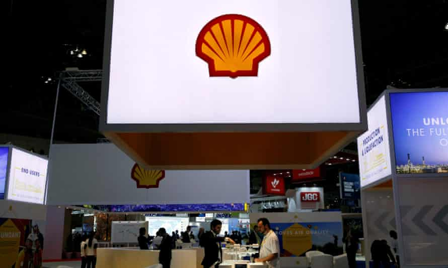 The Royal Dutch Shell stand at Gastech, the world's biggest expo for the gas industry, in Chiba, Japan.