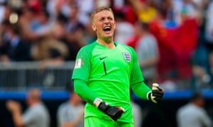 Jordan Pickford was England's standout performer, making a number of superb saves.