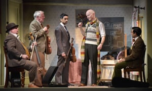 Eric Potts, Patrick Driver, Devesh Kishore, Dominic Gately and Luke Murphy in The Ladykillers by Graham Linehan.