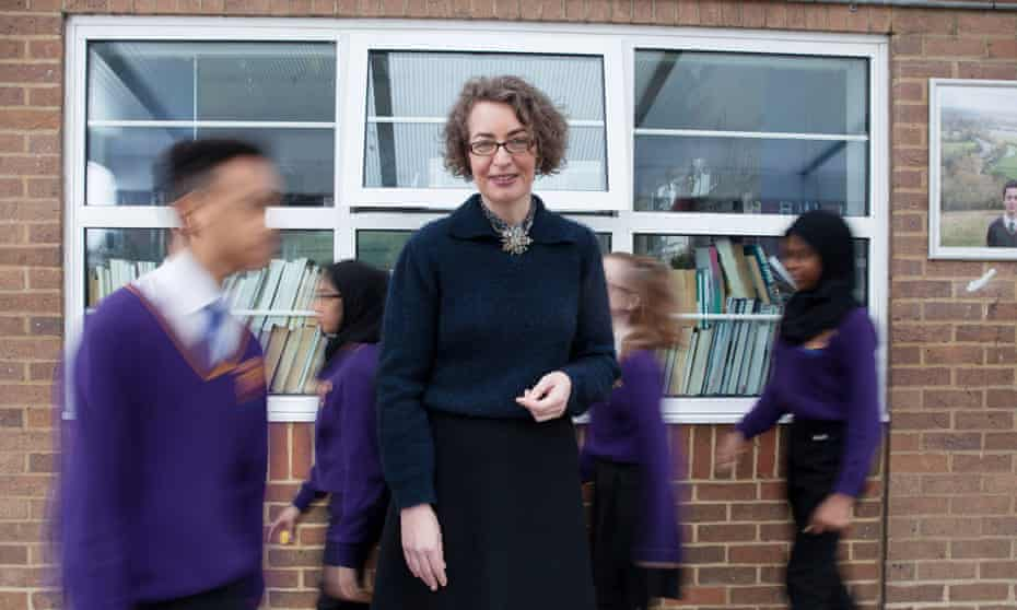 Kate Clanchy, photographed at Oxford Spires Academy, Oxford.
