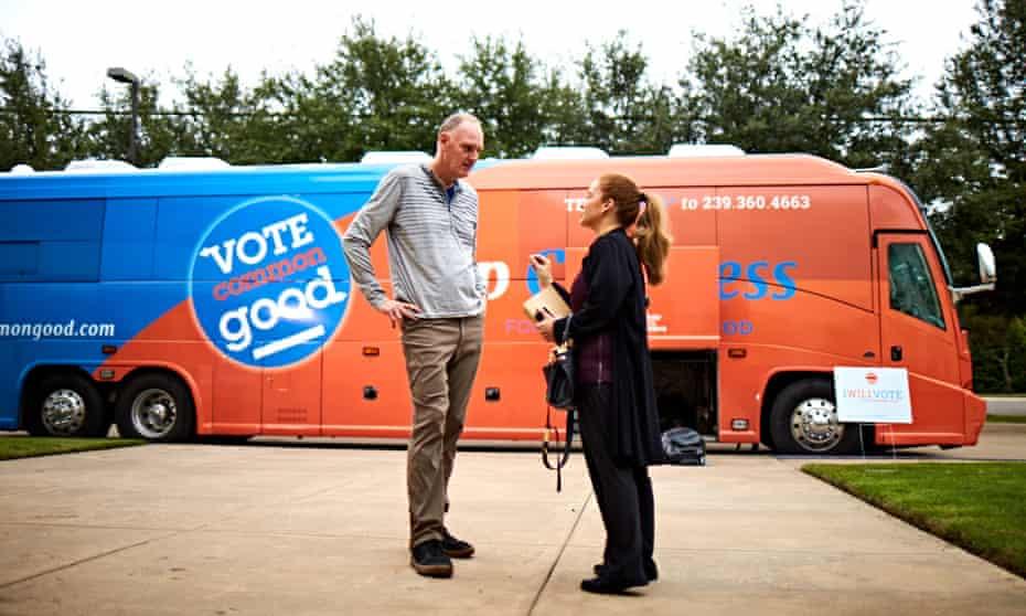Pastor Doug Pagitt. The Vote Common Good tour is part progressive political pitch, part old-time Christian tent revival.