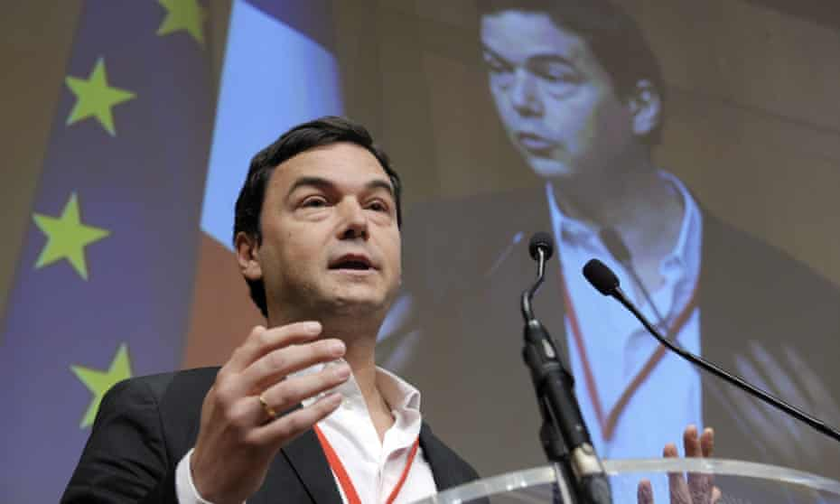 Thomas Piketty addressing a symposium at the economy ministry in Paris.