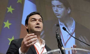 Thomas Piketty addresses the French economic ministry in Paris last year.