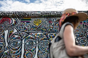 Vivid street art now adorns a section of wall on the east-side gallery