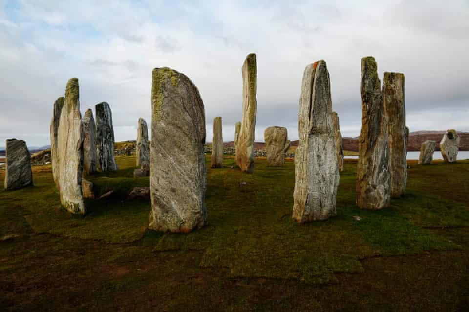 Calanais to Bostadh to Mealasta. The 5,000-year-old Callanish or Calanais standing stones circle.
