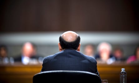 Federal Reserve chairman Ben Bernanke testifies before Congress in October 2011.