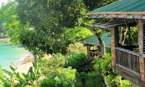 The view from the veranda down to Castara Bay