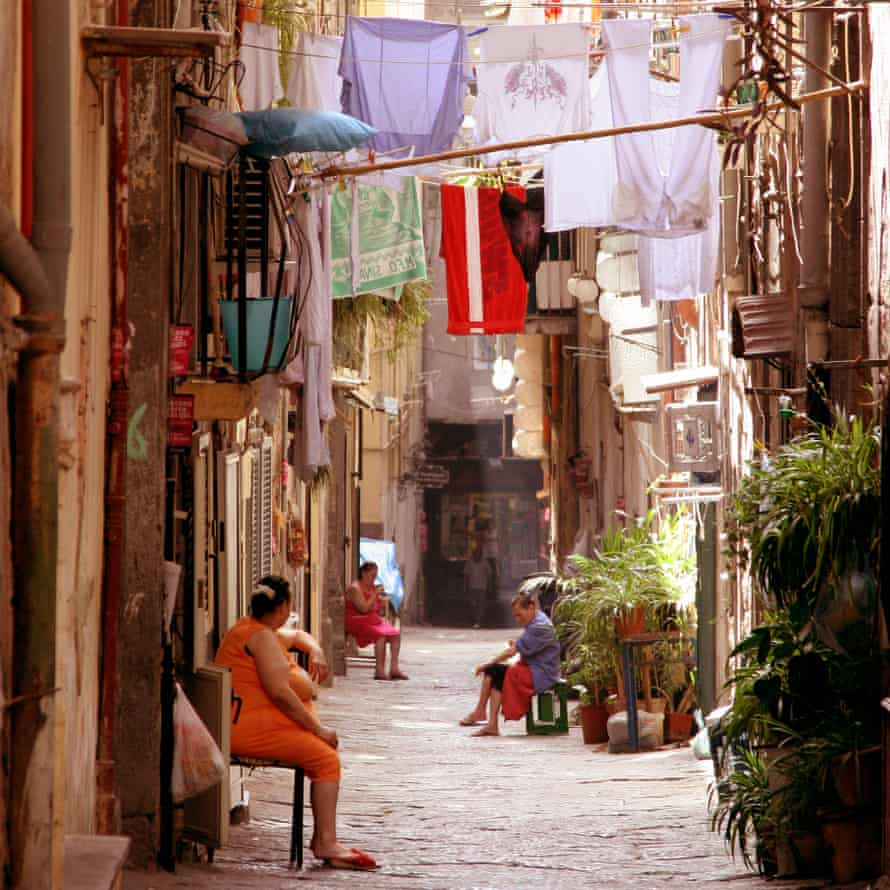 Three sheets to the wind: a backstreet in Spaccanapoli.