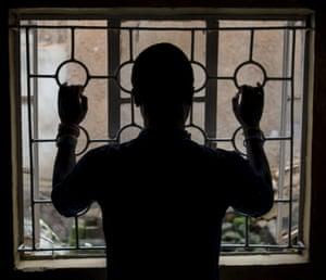 A member of the embattled gay community in Uganda's capital Kampala.