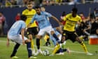 Riyad Mahrez makes first Manchester City appearance in defeat by Dortmund